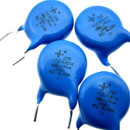 Proteção do impulso do poder do passo do varistor 10D681K do P7.5mm do está de Fornecedores de resistências térmicas