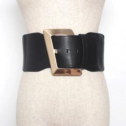 cintura in corsetto d'oro Sconti Nuovo design di marca Elegante fibbia in oro donna Cinturino elastico elastico ampio elasticizzato Cintura Accessori abbigliamento