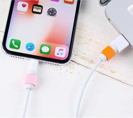 couvre fil Promotion 500 pcs / lot Protecteur de ligne de données USB Câble de protection de câble de couleur pour câble Chargeur Prise Fil Cordon couvercle de protection pour iPhone8 x