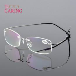 2019 óculos de titânio sem aro para homens 2019 nova memória de titânio flexível unissex óculos sem aro óculos de leitura homens óculos de ultra leve óculos sem aro presbiopia óculos de titânio sem aro para homens barato