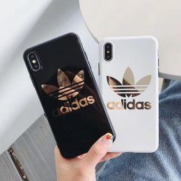 Placage Imprimé Lettre Sports Soft TPU Couverture Arrière Brillant De Mode Cas Trèfle Imprimer Téléphone Shell pour iPhone XS Max XR 6 s 8 Plus ? partir de fabricateur