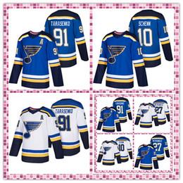 2019 camisetas de hockey nhl montreal canadiens St. Louis Blues Jerseys 91 Vladimir Tarasenko 27 Alex Pietrangelo 10 Brayden Schenn Logotipos de bordado