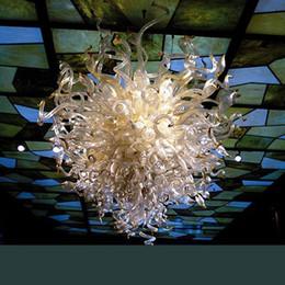 iluminação legal para sala de crianças Desconto Restaurante de Iluminação Luzes Pingente de Vidro Murano Modern Art Chihuly Estilo Lobby Hotel Bola De Cristal Luzes de Teto