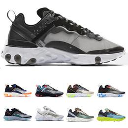 dce54e3154 Epic React Element 87 Running Shoes For Men Women Triple White Black  Undercover Breathable Sports Sneakers Sail Light Bone Designer Shoes