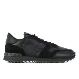 Canada Véritable Cuir Top Fashion Camouflage Couples Chaussures Hommes Casual Chaussure En Cuir Spike Rivet Baskets Pas Cher Chaussures Casual Pour Femme cheap cheap spiked shoes Offre