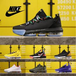 Lebron calça basquete mais baixo on-line-James LeBron XVI Low EP 16 malha Basketball battleknit 2,0 fiywire sapatos para homens Athletic Shoe treinadores desportivos preto Sneakers Outdoor