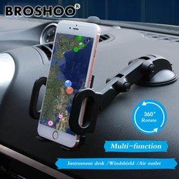 2019 racks de telefone BROSHOO Car Multi Função Mobile Phone Holder Rack de 360 Rotação Para Iphone GPS Titulares Auto Styling Acessórios Do Carro racks de telefone barato