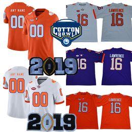 6140c0afa Clemson Tigers 20 Brian Dawkins 8 Justyn Ross AJ Terrell Jr. 92 Greg Huegel  2019 Championship Purple White Orange Cotton Bowl College Jersey