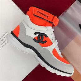 Bottes plates pour femme en Ligne-Mode designer de luxe chaussures femmes Casual Bottines Bottes à lacets baskets montantes femmes épissure sport chaussures classiques de haute qualité