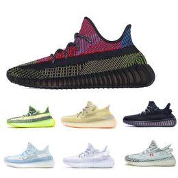 2020 kanye west da X V2 Yecheil Yeehu Brilho Running Shoes sapatos de desporto Citrin Nuvem Branca Preto Reflective Trainers Designer Sapatilhas 05 de