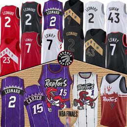 Tracy mcgrady jersey online-Vince Carter 15 Kawhi 2 Leonard Trikots NCAA Tracy McGrady 1 Kyle Jersey 7 Lowry Fred 23 VanVleet Pascal 43 Siakam Shirts