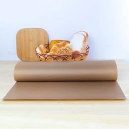 Feuilles de téflon en Ligne-Tapis de cuisson réutilisable Tapis résistant à la chaleur résistant à la chaleur de feuille de téflon résistant à hautes températures de feuille de téflon antiadhésif pour BBQ extérieur