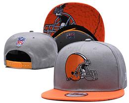 Equipos deportivos online-2019 Nuevo fútbol americano Equipo deportivo Cleveland-B Quality Snapbacks Gorras y sombreros para hombres o mujeres El bordado de alta calidad