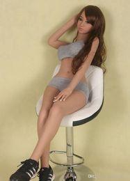 echte puppe fertigen besonders an Rabatt 135cm Sex-Puppe Avril Japan Frau Ganzkörper-Metallskelett Realistisch 100% TPE mit Brust Muschi Anal Oral Sex Love Doll für Mann