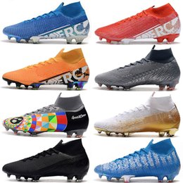 mercurial football shoes Promo Codes - Mens High Tops Football Boots Under The Radar Mercurial Superfly VII 360 Elite FG Soccer Shoes Neymar ACC Superfly 7 Outdoor Soccer Cleats
