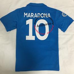 Camiseta de fútbol de nápoles online-NAPOLI 1987/1988 NÁPOLES MARADONA 10 RETRO CAMISETAS DE FUTBOL PERSONALIZADA uniformes de fútbol camisetas de fútbol camisetas de fútbol de calidad de Tailandia