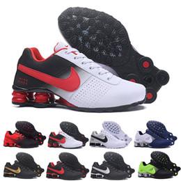 2019 zapatos tenis shox nike Tn plus shox Venta al por mayor Blanco Negro Rojo Clásico Shox Avenue Zapatillas De Deporte Hombre Chaussures Femme Transpirable Entrenadores cómodos Zapatillas de tenis rebajas zapatos tenis shox