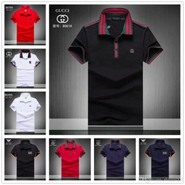 02774135890b News polo shirt men brand clothing Tace & Shark polo shirts cotton  breathable striped shark men polo shirt camisa masculino