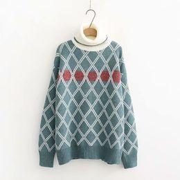 Canada 2019 printemps nouveau modèle coréen diamant pull en tricot de plomb facile pull écolière supplier easy knitting sweater Offre