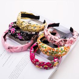 Piccolo fiore del puntino online-Cute cartoon polka dot fiore stampa fascia tessuto antiscivolo hairband moda accessori per capelli bambina chic copricapo festa