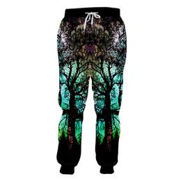 calças de galáxia masculina Desconto Espaço galaxy tree impressão 3d corredores calças das mulheres dos homens ginásio casual hip hop moletom calças unisex plus size 5xl personalizado rap calças