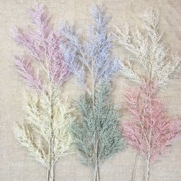 pianta di pino Sconti Artificiale Rime Fiore Pino Smog Ramo di un albero di plastica Erba Giardino Decorazione della casa Pianta finta Foglia Decorazione del soffitto di nozze