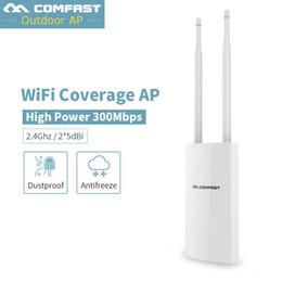 2019 alternar aux High Power Outdoor Wireless Router CPE 500mW 300Mbps base AP 360 Anjo dupla 5dBi omnidirecional Antenas WIFI Extender