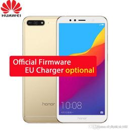 2019 cdma 32gb Huawei Honor 7A 3GB 32GB 5.7 pouces empreinte digitale empreinte digitale Snapdragon 430 Octa Core Avant 8.0MP Double caméra arrière 3000mAh cdma 32gb pas cher