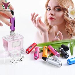 2019 botellas de champú de aluminio al por mayor Listo IMIROOTREE de 5 ML portátil atomizador recargable del perfume de la botella del aerosol del envase del perfume colorido