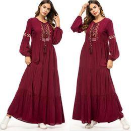 roupas muçulmanas por atacado Desconto Abaya Qatar UAE turco islâmico Malásia Ruffle plissadas muçulmano Hijab Vestido Abayas Para Mulheres Robe Musulmane Kaftan Dubai Roupa