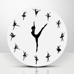 Стена для чаров онлайн-1Piece Ballet Dancer Modern Design Wall Clock Charming Ballerina 3D Wall Clock Baby Girl Nursery Decor Unique Gift For Ballerina