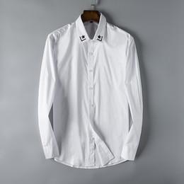 foto calde gratuite Sconti 2018 Nuove foto reali di trasporto libero Modo caldo a maniche lunghe di alta cottom uomini camicia casual taglia m-3xl