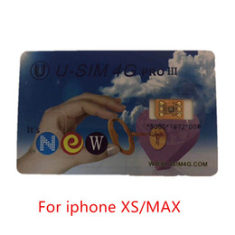 sprint sim card unlocked Promo Codes - Hot Newest version U-SIM NEW CARD Unlocking Sim auto available edit ICCID Support For iPhone XS MAX SPRINT JAPAN AU Free DHL