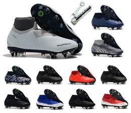 2019 taille 6.5 chaussures 2019 Phantom Vision VSN Élite DF SG Acier Spike Mens Haute Cheville Football Crampons Chaussures De Football Taille US 6.5-11 taille 6.5 chaussures pas cher