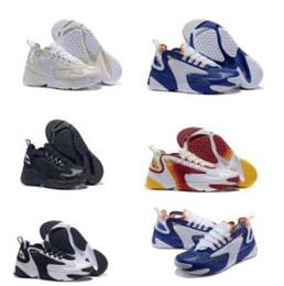 Modelo de vela online-2019 El más nuevo Zoom 2K Vela Blanco-Negro Azul marino Naranja Hombre Zapatillas deportivas al aire libre ZM estilo de baloncesto modelo M2k Tekno Moda Hombres Diseñador Zapatillas