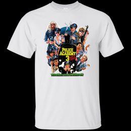 2019 oficial de policia Police Academy, Retro, 1980's, Comedy, Steve Gutenberg, Law Enforcement, Officer Cartoon t shirt men Unisex New Fashion oficial de policia baratos