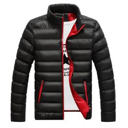 4xl mens parkas Sconti Giacca invernale da uomo 2019 Colletto alla moda colletto da uomo Parka giacca da uomo Solido spesso giacche e cappotti uomo inverno Parka Plus Size