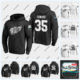 roter flügel hoodie Rabatt 35 Jimmy Howard Detroit Red Wings 2019 All-Star-Spiel Hoodie 71 Dylan Larkin 14 Gustav Nyquist 72 Andreas Athanasiou 59 Tyler Bertuzzi Jersey