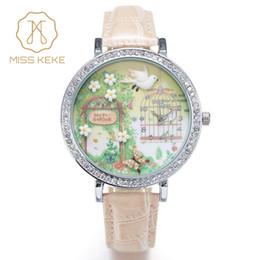 c541f3a6278 Miss keke 3d argila bonito mini mundo golden retriever strass relógios  relogio feminino senhoras de quartzo relógios de pulso de couro 1050