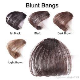 Clip fin mince de frange soignée avant en blunt Bangs postiche noir / brun avec cheveux synthétiques haute température ? partir de fabricateur