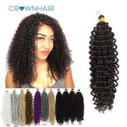 Torsion afro kinky tresses cheveux en Ligne-Tressage Extensions de Cheveux Vague D'Eau Tresses Blonds Paquets Freetress Afro Synthétique Crépus Twist Crochet Cheveux En Vrac