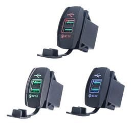 DIY Çift USB Hızlı Şarj 3.0 LED Hızlı Şarj Güç Adaptörü için 12 V / 24 V Araba Tekne Motosiklet SUV Otobüs Kamyon Deniz nereden