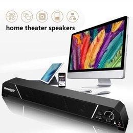 2019 control remoto con cable Smalody Computer Speaker altavoces de cine en casa Subwoofer Altavoces de cable de sonido de alta calidad con embalaje al por menor envío gratis