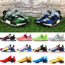 zapatillas multi color Rebajas BBC azul rojo verde a cuadros Multi Color NMD humanrace hombres zapatos de diseñador Hu Pharrell Solar Pack Rojo Madre Naranja hombres mujeres zapatos para correr