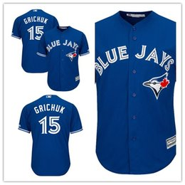 4920d5b0d Custom 2019 Men's Blue Jays 15 Randal Grichuk Toronto Royal Alternate Cool  Base Player women kids Jersey