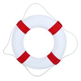 Двойные сплошные кольца онлайн-Профессиональная сплошная пена для детей Спасательный круг Двойное утолщение Спасательный поплавок Спасатель Кольцо для плавания Бассейн Float Party Watersport