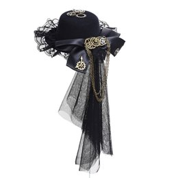 sexy gear Coupons - ccessories Headwear Steampunk Lace Veil Gear Tassels Hair Clip Punk Gears Bow-tie Mini Top Hat Cosplay Gothic Lolita Fedoras Headwear Acc...