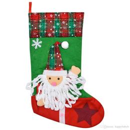 2019 doces dos cervos Meias do Natal para a decoração árvores de Natal Ornamento decorações do partido de Santa veados Stocking Meias doces de Natal Bolsas Xmas Gifts Bag doces dos cervos barato