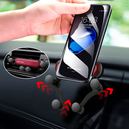 Soporte universal de teléfono para coche Soporte para teléfono móvil Soporte de gravedad para teléfono Soporte para teléfono No magnético para iPhone X Xiaomi Redmi note 7 Soporte desde fabricantes