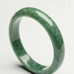 2019 bracciali belle mani Glossy mano Bracciale scolpita bellissima braccialetto verde cinese Jade 54 millimetri-64 millimetri KYY8755 sconti bracciali belle mani